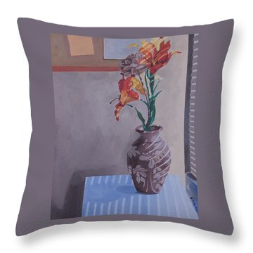 Still Life With Tiger Lilies Throw Pillow