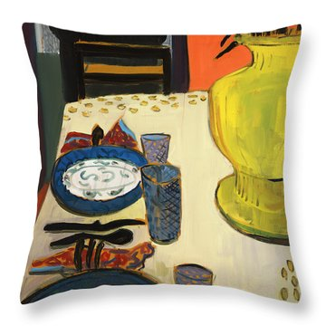 Still Life With Two Plates Throw Pillow