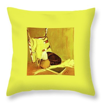 Still Life With Wool Socks Throw Pillow by Manuela Constantin