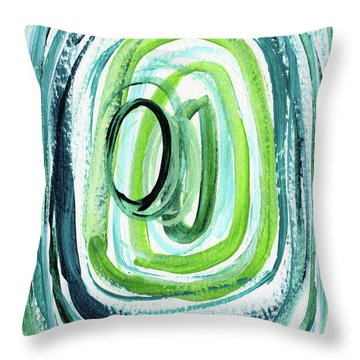 Still Orbit 9- Abstract Art By Linda Woods Throw Pillow