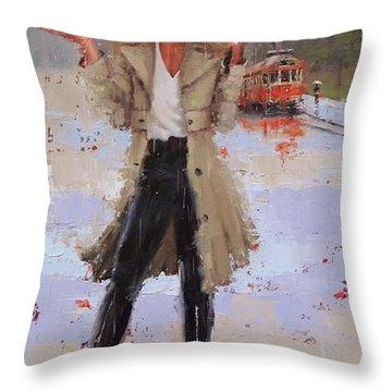 Still Raining Throw Pillow
