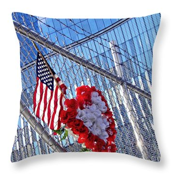 Throw Pillow featuring the photograph Still Remembered  by Sarah Loft