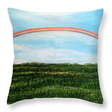 Still Searching For Somewhere Over The Rainbow? Throw Pillow