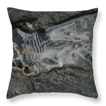 Still Stream Skeleton Screams Throw Pillow