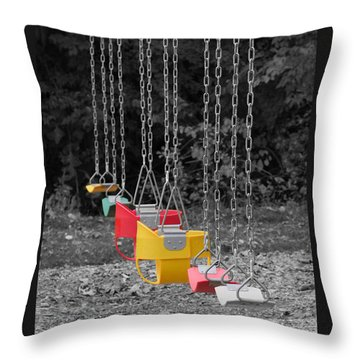 Still Swings Throw Pillow