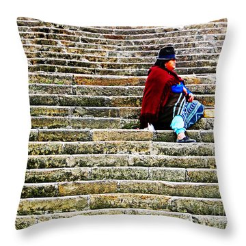 Still Waiting Impatiently Throw Pillow
