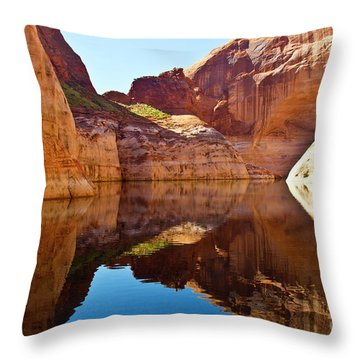 Still Waters Throw Pillow by Kathy McClure