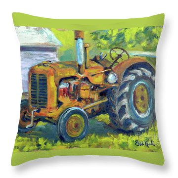 Still Workin' Throw Pillow by William Reed