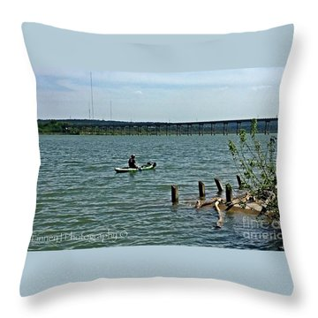 Throw Pillow featuring the photograph Stillhouse Lake Canoe - No.2016 by Joe Finney