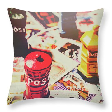 Stilling The Mail Room Throw Pillow