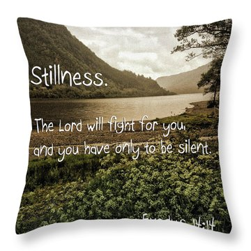 Throw Pillow featuring the photograph Stillness by Beauty For God