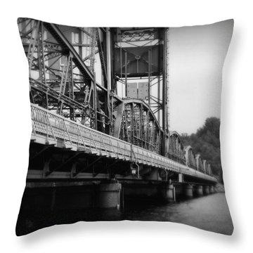 Stillwater Bridge  Throw Pillow by Perry Webster