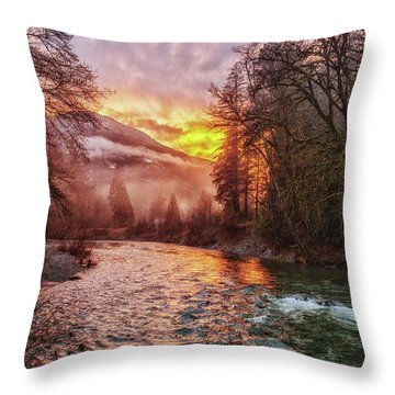 Stilly Sunset Throw Pillow