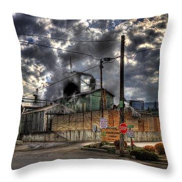 Stimson Lumber Mill Throw Pillow