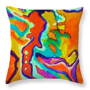 Stimulated Throw Pillow