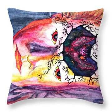 Sting Having A Nightmare Throw Pillow