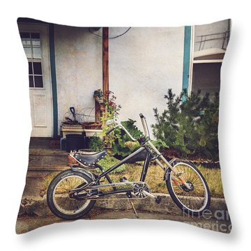 Throw Pillow featuring the photograph Sting Ray Bicycle by Craig J Satterlee