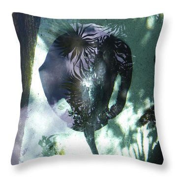 Throw Pillow featuring the photograph Stingray Swim V by Francesca Mackenney