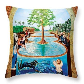Stingray Tank At Atlantis Aquarium Throw Pillow