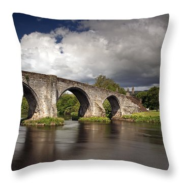 Stirling Bridge Throw Pillow by Grant Glendinning