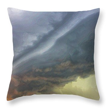 Stirred Up Sunset Throw Pillow