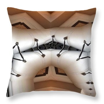 Throw Pillow featuring the digital art Stitched 1 by Ron Bissett
