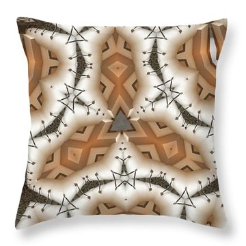 Stitched 2 Throw Pillow by Ron Bissett