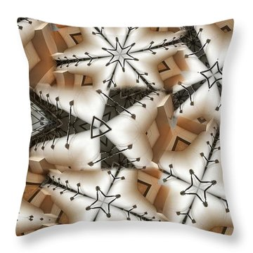 Throw Pillow featuring the digital art Stitched 3 by Ron Bissett