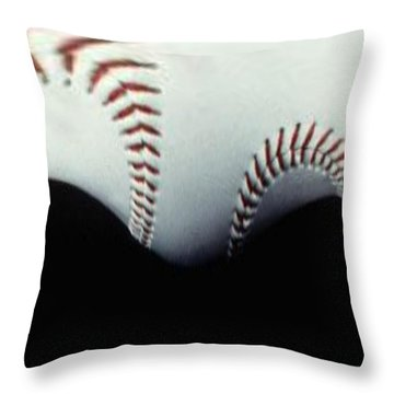 Stitches Of The Game Throw Pillow by Tim Allen