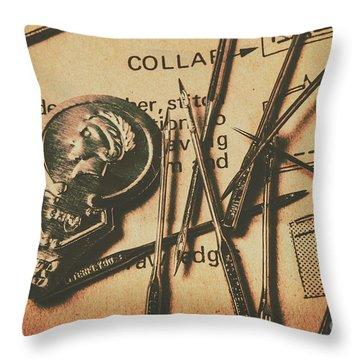 Stitching The Worn Throw Pillow
