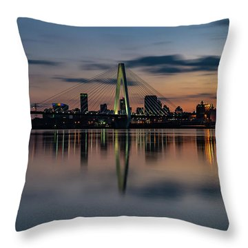 Stl Cityscape Throw Pillow by Jae Mishra