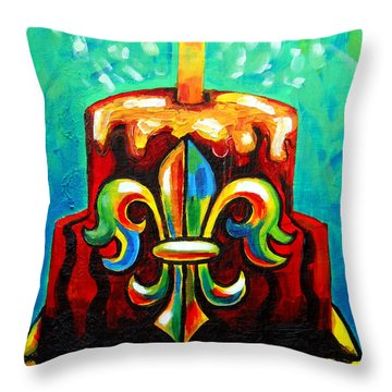 Stl250 Cakeway To The West Payne Gentry House Fleur De Lis Cake Throw Pillow by Genevieve Esson