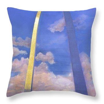 St.louis Gateway Arch Throw Pillow