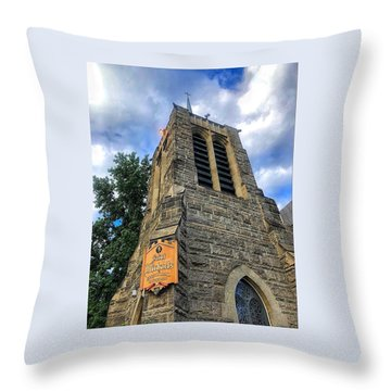 St.michael's Episcopal Cathedral Throw Pillow