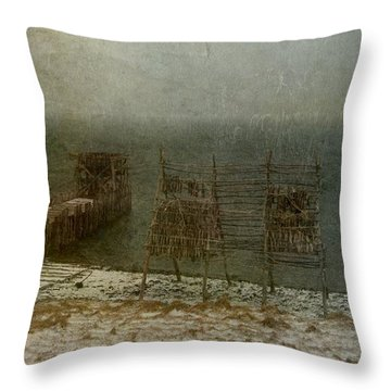 Stockfish Dryers Throw Pillow