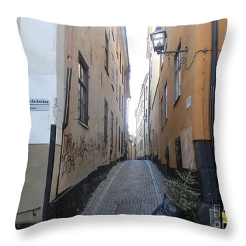 Stockholm Alley Throw Pillow