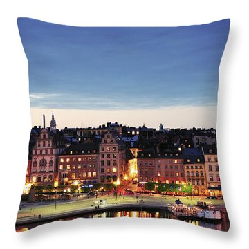 Stockholm By Night Throw Pillow