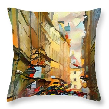 Stockholm Galmastan Town 9 Throw Pillow