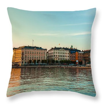 Stockholm Munkbroleden Throw Pillow