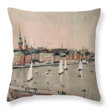 Stockholm Regatta Throw Pillow
