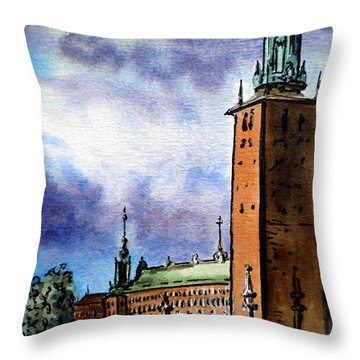 Stockholm Sweden Throw Pillow
