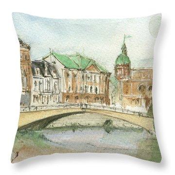 Stockholm Sweden Throw Pillow