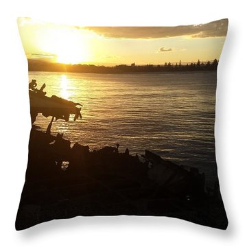 Stockton Sunset Throw Pillow