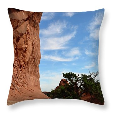 Throw Pillow featuring the photograph Stoic Stone Arch In Utah by Bruce Gourley