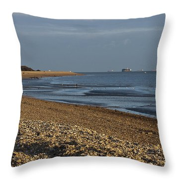 Stokes Bay England Throw Pillow by Terri Waters