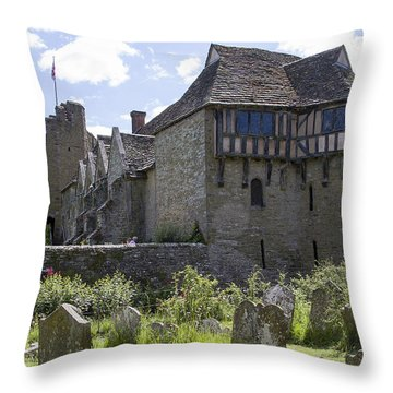 Stokesay Castle Shropshire Throw Pillow