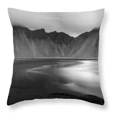 Stokksnes Iceland Bandw Throw Pillow