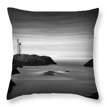 Stokksnes Lighthouse Throw Pillow