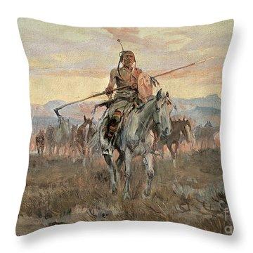 Stolen Horses Throw Pillow