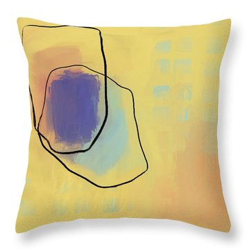 Throw Pillow featuring the mixed media Stone Age by Eduardo Tavares
